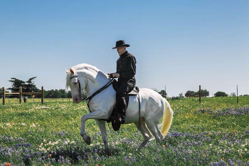 Gary Douglas and his horse Deseable